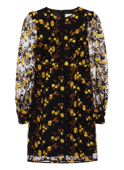 damsel in a dress Kleid LOVELL, Farbe: SCHWARZ/ GELB/ DUNKELORANGE (Bild 1)