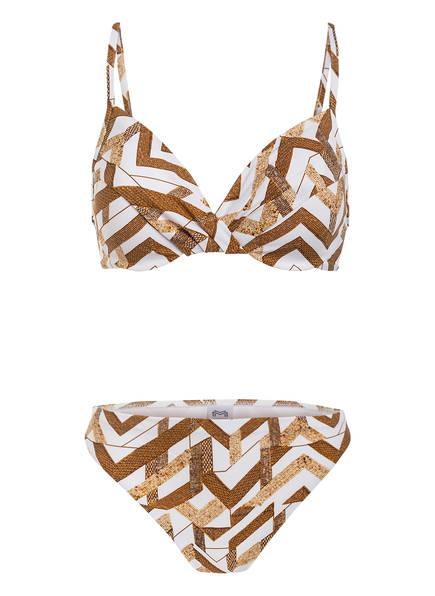 MARYAN MEHLHORN Bügel-Bikini SIGNATURE, Farbe: WEISS/ GOLD (Bild 1)
