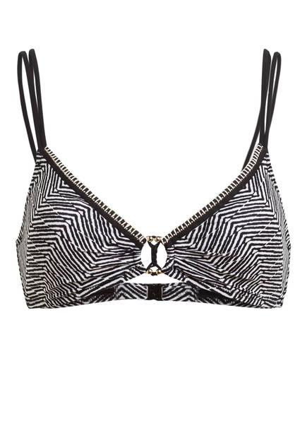 watercult Triangel-Bikini-Top AFRO GEM , Farbe: SCHWARZ/ WEISS (Bild 1)