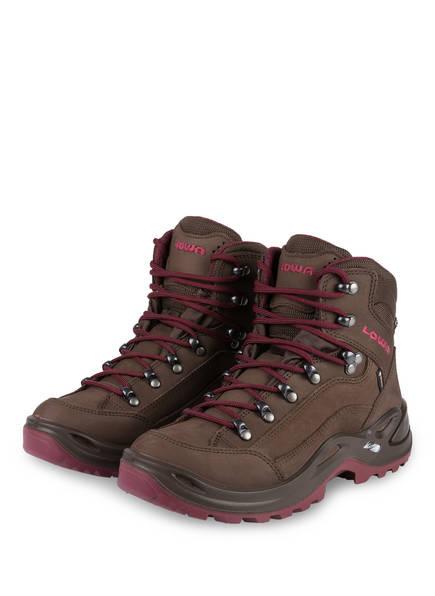 LOWA Outdoor-Schuhe RENEGADE GTX MID, Farbe: BRAUN/ DUNKELROT (Bild 1)