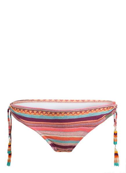 watercult Bikini-Hose SOUVENIR STRIPE, Farbe: ORANGE/ DUNKELROT/ TÜRKIS (Bild 1)