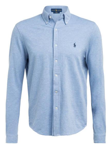 POLO RALPH LAUREN Jerseyhemd Custom Fit, Farbe: HELLBLAU (Bild 1)