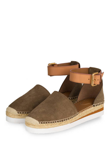 SEE BY CHLOÉ Espadrilles SUNSET, Farbe: ALGHE/ CUOIO (Bild 1)