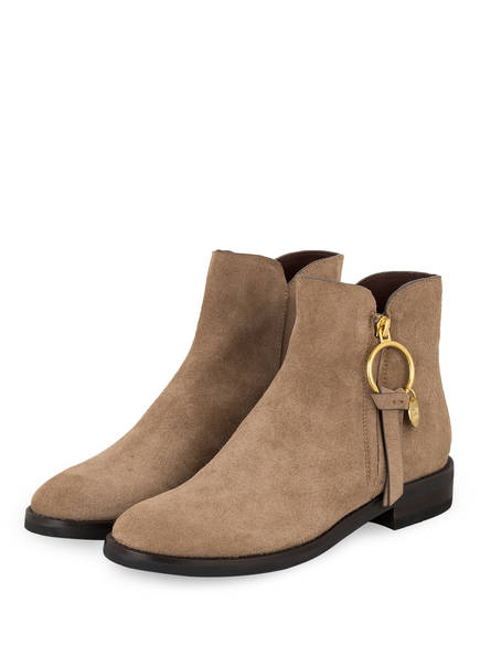 SEE BY CHLOÉ Stiefeletten, Farbe: TAUPE (Bild 1)