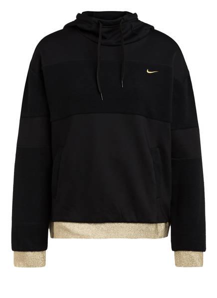 Nike Hoodie ICON CLASH, Farbe: SCHWARZ/ GOLD (Bild 1)