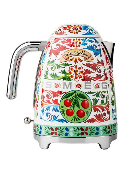 SMEG Wasserkocher KLF03, Farbe: WEISS/ GRÜN/ ROT (Bild 1)