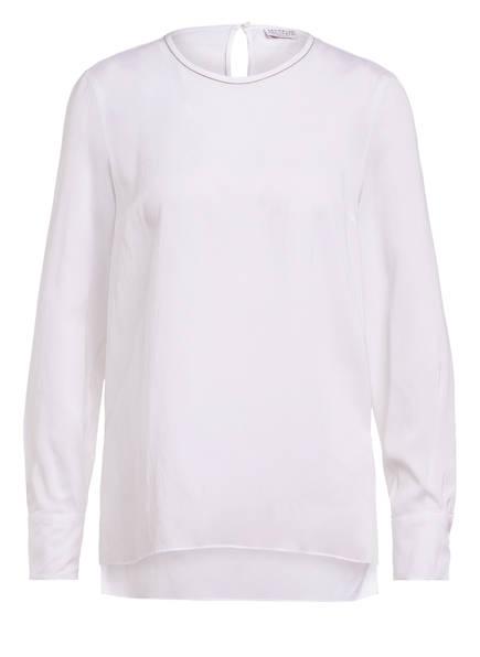 BRUNELLO CUCINELLI Blusenshirt aus Seide mit Schmucksteinbesatz, Farbe: WEISS (Bild 1)