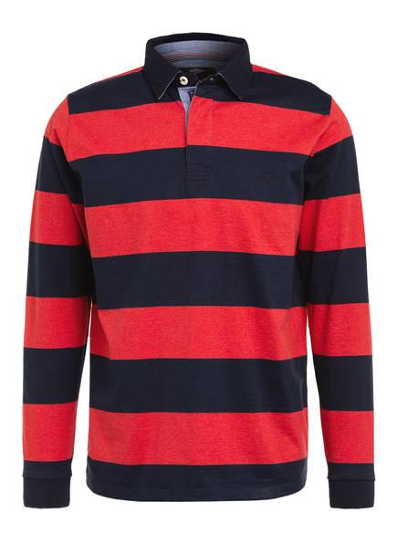FYNCH-HATTON Jersey-Poloshirt , Farbe: ROT/ BLAU (Bild 1)