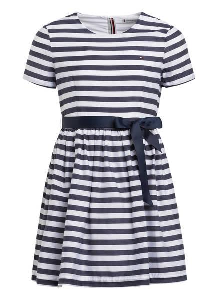 TOMMY HILFIGER Kleid, Farbe: WEISS/ DUNKELBLAU GESTREIFT (Bild 1)