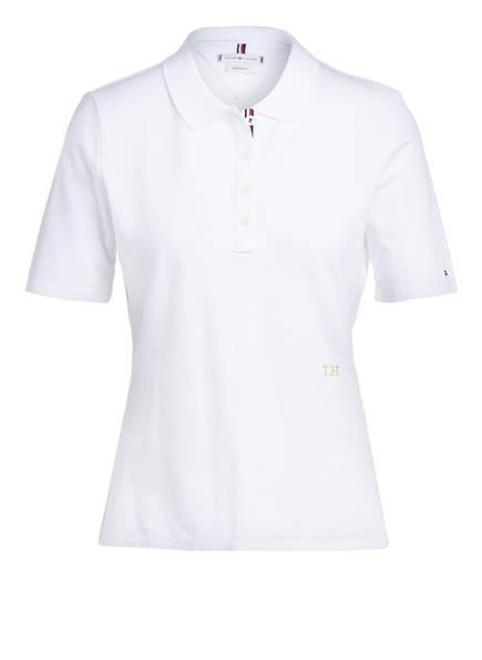 TOMMY HILFIGER Piqué-Poloshirt ESSENTIAL, Farbe: WEISS (Bild 1)