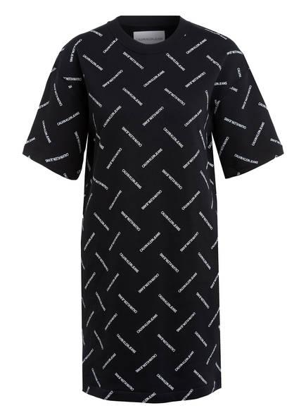 Calvin Klein Jeans Sweatkleid DIAGONAL LOGO, Farbe: SCHWARZ (Bild 1)
