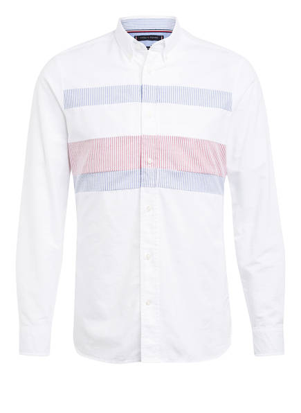 TOMMY HILFIGER Hemd Slim Fit, Farbe: WEISS/ DUNKELROT/ DUNKELBLAU  (Bild 1)