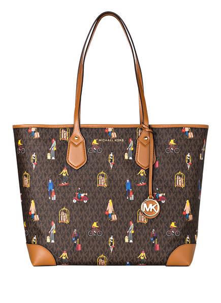 MICHAEL KORS Shopper EVA mit Pouch, Farbe: BROWN MULTI (Bild 1)