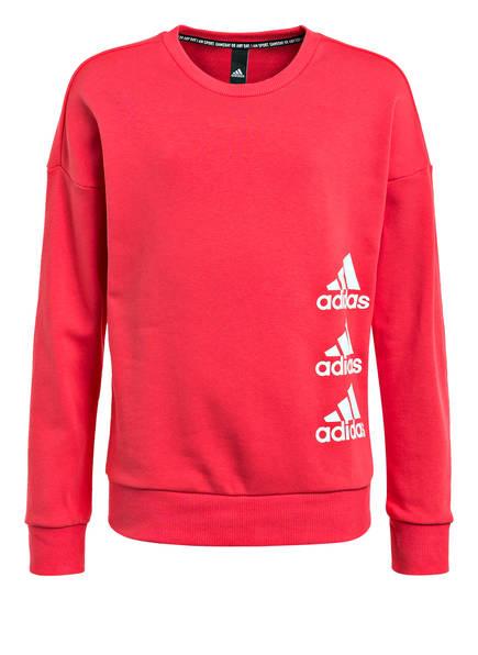 adidas Sweatshirt MUST HAVES, Farbe: ROT (Bild 1)