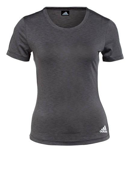adidas T-Shirt PERFORMANCE, Farbe: SCHWARZ MELIERT (Bild 1)
