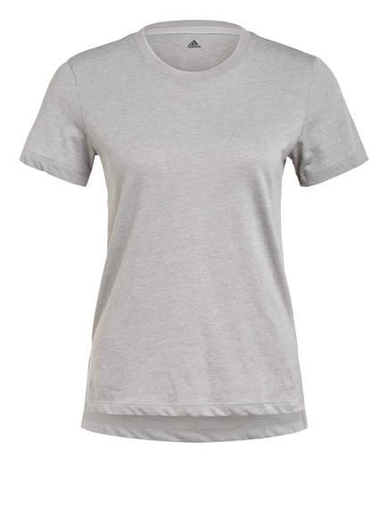 adidas T-Shirt GO-TO, Farbe: HELLGRAU MELIERT (Bild 1)