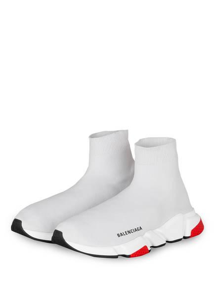 BALENCIAGA Hightop-Sneaker SPEED, Farbe: WEISS/ ROT (Bild 1)