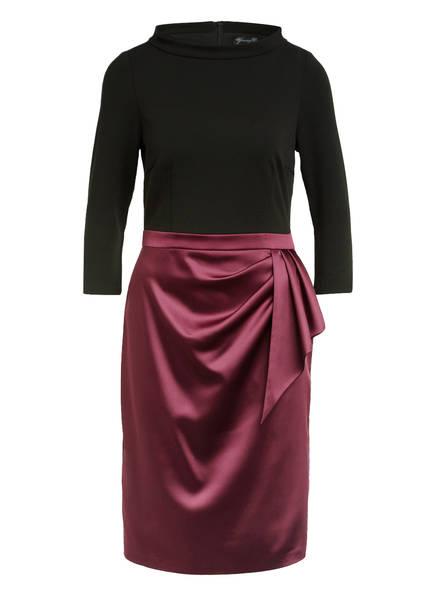 Young Couture by BARBARA SCHWARZER Kleid mit 3/4-Arm, Farbe: SCHWARZ/ DUNKELROT (Bild 1)