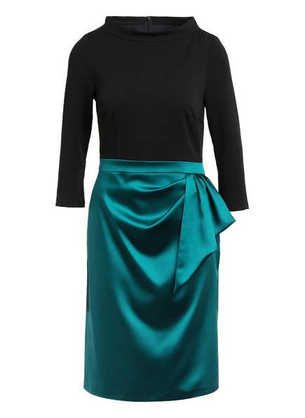 Young Couture by BARBARA SCHWARZER Kleid mit 3/4-Arm, Farbe: SCHWARZ/ DUNKELGRÜN (Bild 1)