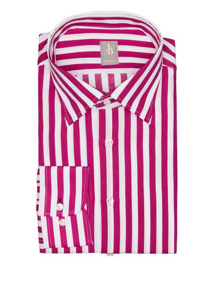 Jacques Britt Hemd MESSINA Costum Fit , Farbe: WEISS/ PINK GESTREIFT (Bild 1)