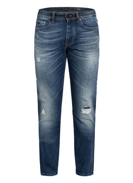 BOSS Destroyed Jeans TABER Tapered Fit, Farbe: 426 MEDIUM BLUE (Bild 1)