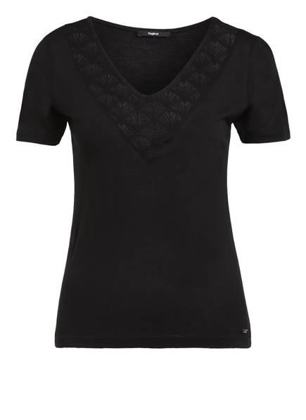tigha T-Shirt mit Spitzeneinsatz, Farbe: SCHWARZ (Bild 1)