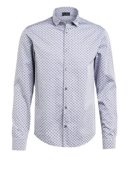 EMPORIO ARMANI Hemd Custom Fit, Farbe: GRAU/ DUNKELGRAU (Bild 1)
