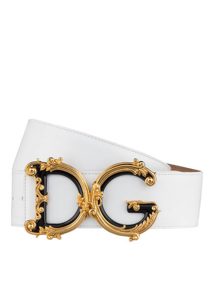 DOLCE&GABBANA Ledergürtel, Farbe: WEISS (Bild 1)