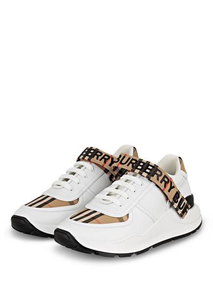 BURBERRY Plateau-Sneaker RONNIE, Farbe: WEISS/ BEIGE/ SCHWARZ (Bild 1)