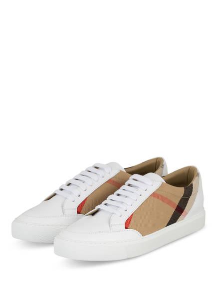 BURBERRY Sneaker , Farbe: WEISS/ BEIGE/ ROT (Bild 1)