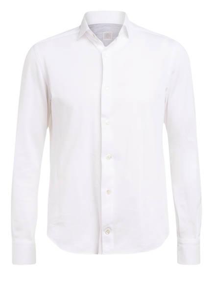 eleventy Piqué-Hemd Slim Fit, Farbe: WEISS (Bild 1)