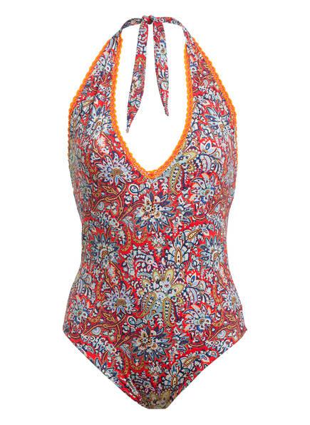 ETRO Neckholder-Badeanzug , Farbe: ROT/ HELLBLAU/ ORANGE (Bild 1)