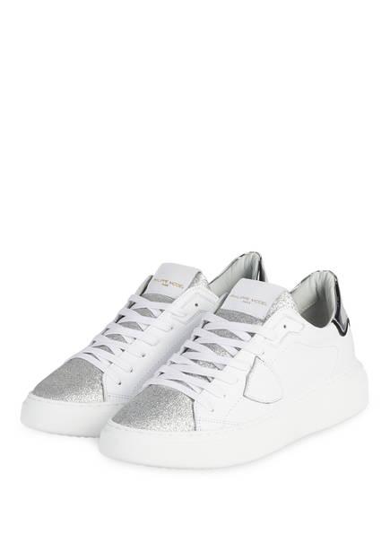 PHILIPPE MODEL Sneaker TEMPLE, Farbe: WEISS/ SILBER (Bild 1)