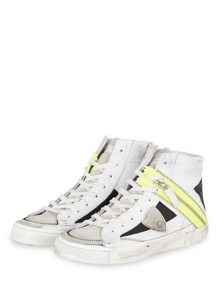 PHILIPPE MODEL Sneaker VEAU NEON, Farbe: WEISS/ HELLGRAU/ SILBER (Bild 1)