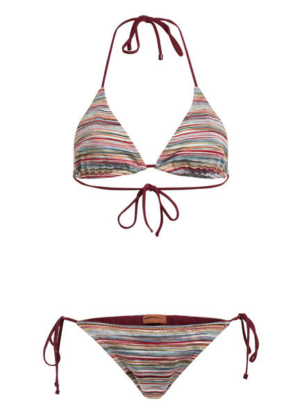 MISSONI Triangel-Bikini, Farbe: ROT/ BLAU/ GELB (Bild 1)