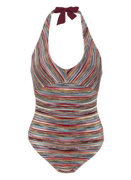 MISSONI Neckholder-Badeanzug , Farbe: ROT/ BLAU/ GELB (Bild 1)