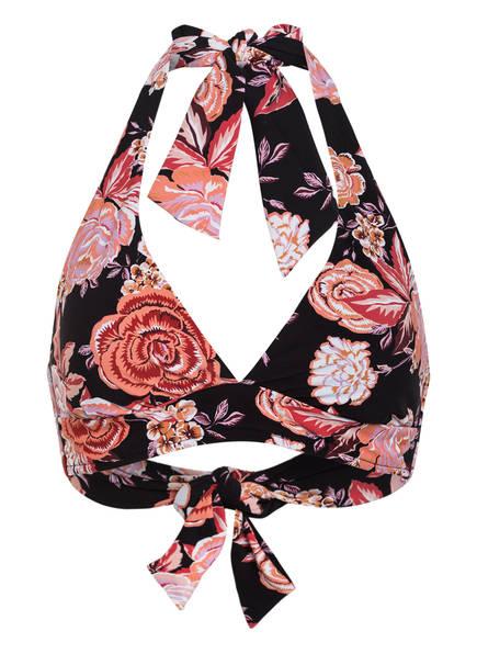 SEAFOLLY Neckholder-Bikini-Top VIDA BLOOMS , Farbe: SCHWARZ/ ROSE (Bild 1)