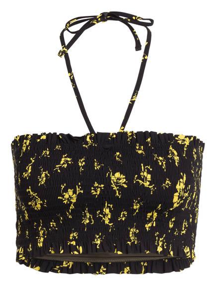 GANNI Bandeau-Bikini-Top , Farbe: SCHWARZ/ GELB (Bild 1)