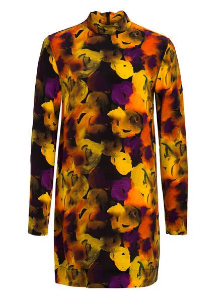 GANNI Kleid mit Seide, Farbe: SCHWARZ/ GELB/ LILA (Bild 1)