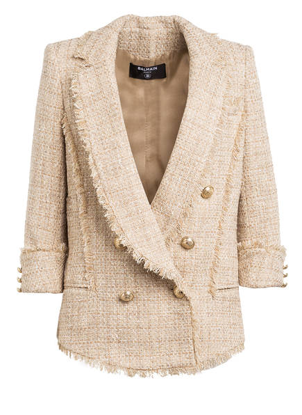 BALMAIN Tweed-Blazer , Farbe: CREME/ BEIGE (Bild 1)