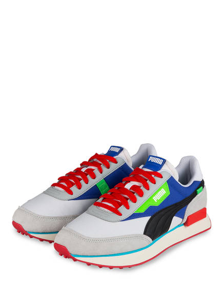 PUMA Sneaker FUTURE RIDER RIDE ON, Farbe: HELLGRAU/ BLAU/ SCHWARZ (Bild 1)