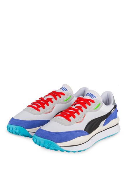 PUMA Sneaker STYLE RIDER RIDE ON, Farbe: WEISS/ BLAU (Bild 1)
