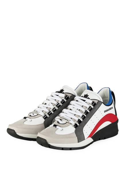 DSQUARED2 Sneaker 551, Farbe: WEISS/ HELLGRAU/ ROT (Bild 1)