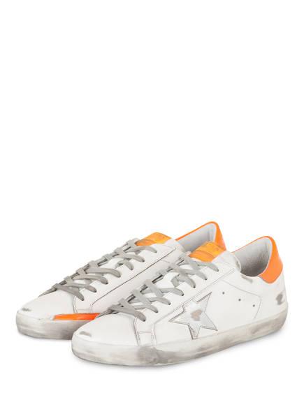 GOLDEN GOOSE DELUXE BRAND Sneaker SUPERSTAR, Farbe: WEISS/ ORANGE (Bild 1)