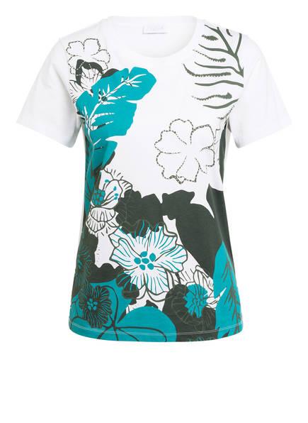 ESCADA SPORT T-Shirt mit Perlenbesatz, Farbe: WEISS/ PETROL/ KHAKI (Bild 1)