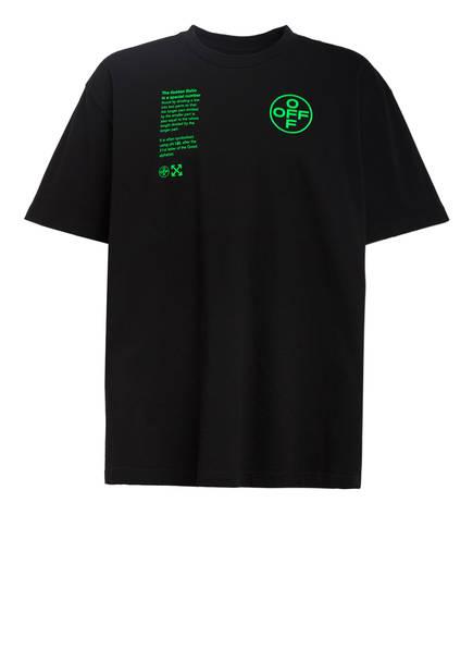 OFF-WHITE Oversized-Shirt, Farbe: SCHWARZ/ NEONGRÜN (Bild 1)