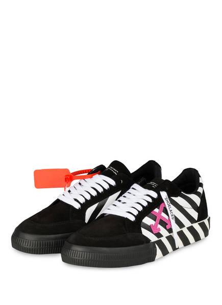 OFF-WHITE Sneaker LOW VULCANIZED, Farbe: SCHWARZ/ WEISS/ PINK (Bild 1)