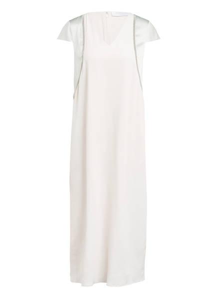 FABIANA FILIPPI Kleid mit Seide und Schmucksteinbesatz, Farbe: CREME/ HELLGRAU (Bild 1)