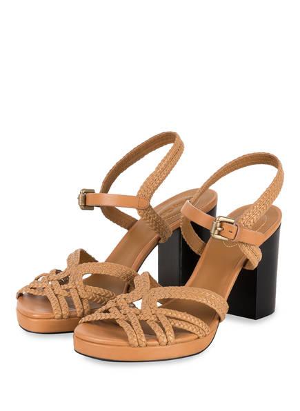 SEE BY CHLOÉ Sandaletten, Farbe: GRANO/ CUOIO (Bild 1)