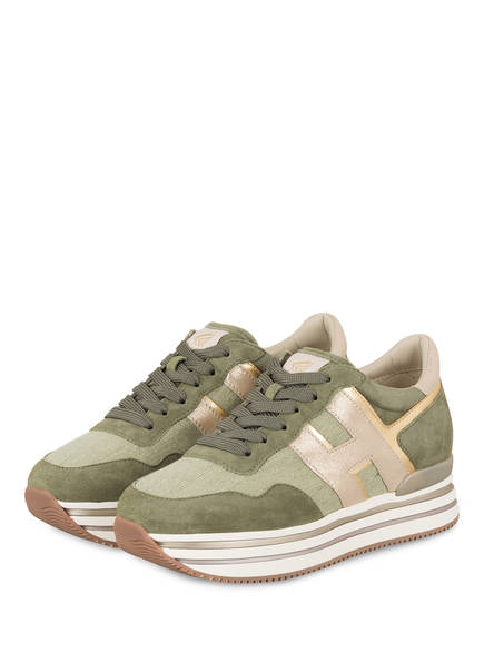 HOGAN Plateau-Sneaker, Farbe: HELLGRÜN/ OLIV (Bild 1)